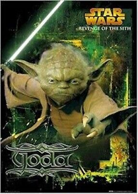 REVENGE OF THE SITH MOVIE POSTER ~ YODA DETERMINED 24x36 Star Wars Episode III 3