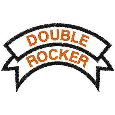 """Custom Embroidered Double Rocker Patch 4"""""""
