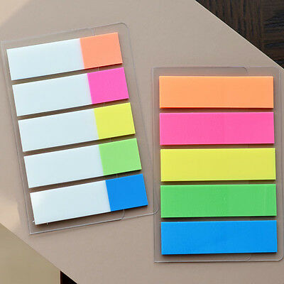 100 Colour Fluro Repositionable Adhesive Sticky Note Marker Index Tab Bookmark