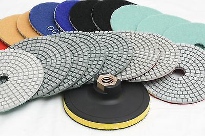 Diamond Polishing Pads 4 inch Wet/Dry 150 Piece Set Granite Concrete Marble