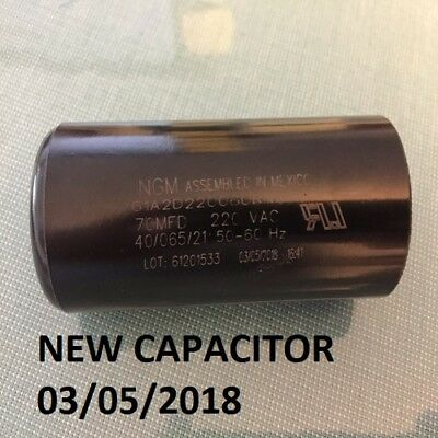 19988-A Capacitor Part 70 MFD 220 Vac 60 Hz Genie Overhead Garage Door NGM