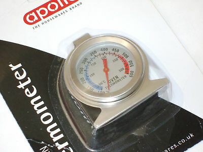 New Analogue Dial Face Oven Thermometer Baking Roasting Apollo 9617