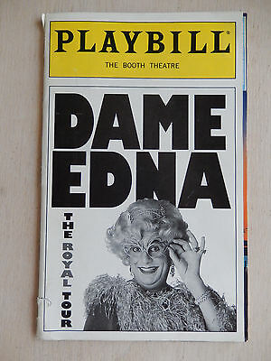 May 2000 - Booth Theatre Playbill w/Ticket - Dame Edna The Royal Tour