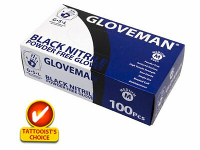 GLOVEMAN High Quality BLACK NITRILE AQL 1.5 CLASS 1 MEDICAL GRADE GLOVES BOXES