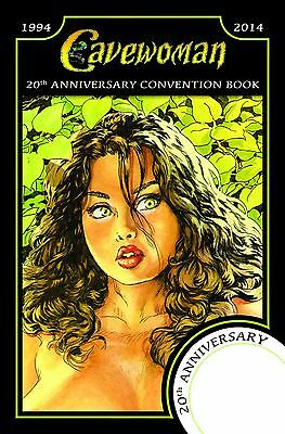 CAVEWOMAN CONVENTION BOOK - 2014 CVR B - 20th Anni Full Color - Signed by Budd