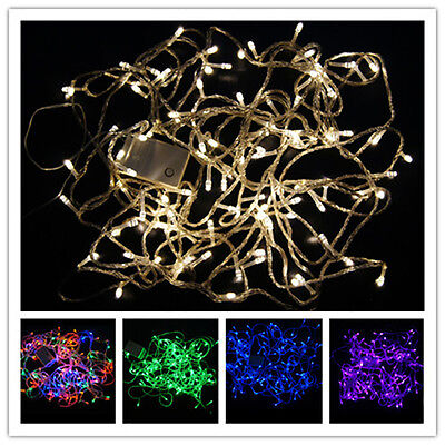 10M 100 LED Waterproof Christmas Fairy Colorful String Garden Home Party Light
