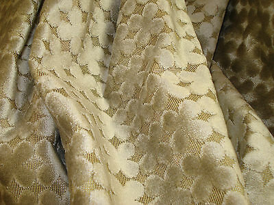 """ONE YARD NOBILIS CUT VELVET FABRIC BLUE NOTE CASHMERE UPHOLSTERY 54"""" x 36"""" BTY"""