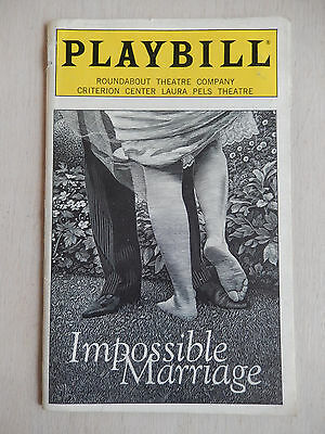 September 1998 - Laura Pels Playbill Theatre w/Ticket - Impossible Marriage
