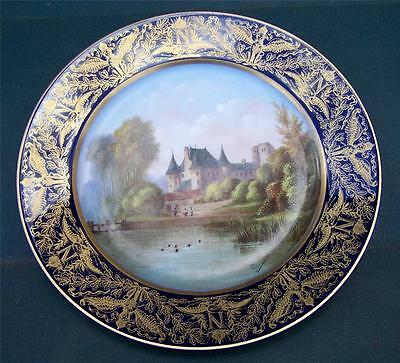 ANTIQUE FRENCH EMPIRE 1804  SEVRES NAPOLEON CHATEAU PLATE