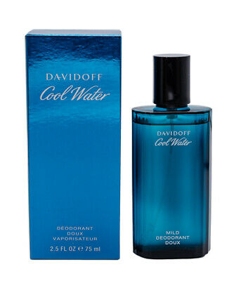 Cool Water by Davidoff Cologne Deodorant Spray for Men 2.5 oz New In Box