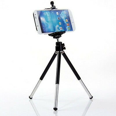Digital Mini Tripod  Extendable Handheld  Holder Stand + Clip for Cellphone