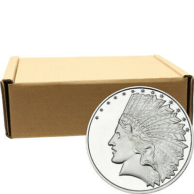 $10 Gold Indian 1oz .999 Silver Medallion by SilverTowne (500pc)