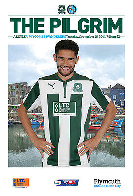 PLYMOUTH v WYCOMBE 2014/15 MINT PROGRAMME