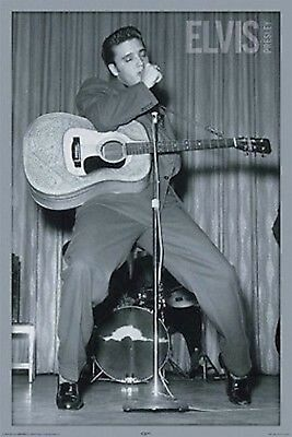 ELVIS PRESLEY ~ TIPTOES DANCING 24x36 MUSIC POSTER Live Guitar The King