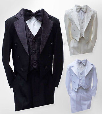 Baby Boys Christening Outfit, Boys Tuxedo Tail Suits, Page Boy Outfit 3M to 6YRS