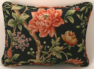 "1 12"" by  16"" Red Mauve Green Lavender & Brown Floral Designer Throw Pillow"