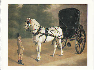 CARRIAGE OF THE MASTER HORSE POSTCARD ARTIST DRAWN SIR FREDERICK LUTYENS