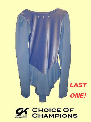 GK Elite® #795 Child Large Light Blue Velvet Skating Dress/Costume SAVE 25%+