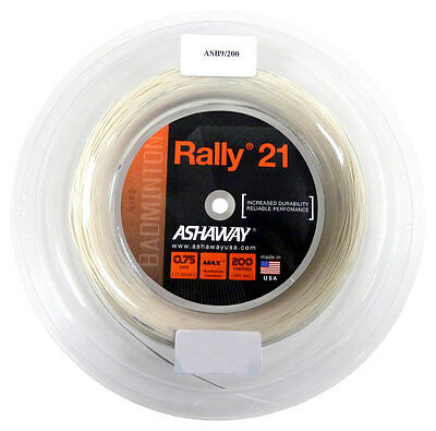 Ashaway Rally 21 0.75mm Badminton Strings 200M Reel