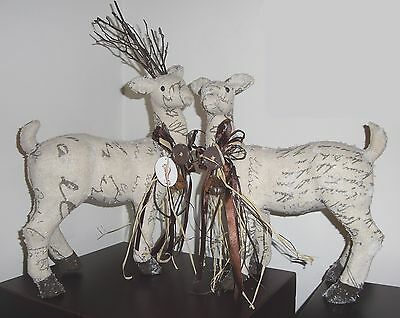 Set of 2 Frosted Reindeer Figures Christmas Decoration-Frontgate/Grandin Road