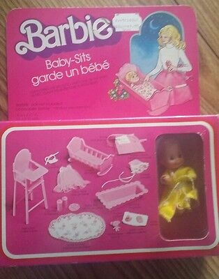 BARBIE BABY SITS SET #7882 NRFB MINT CONDITION 1976