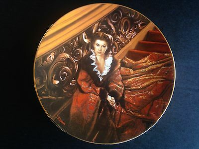 """GONE WITH THE WIND Collectors Plate """"Waiting for Rhett"""", original box & COA"""