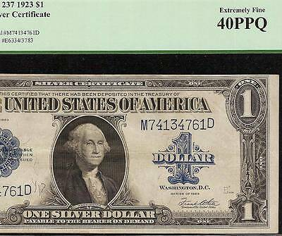 LARGE 1923 $1 DOLLAR BILL SILVER CERTIFICATE NOTE OLD PAPER MONEY GIFT IDEA PCGS