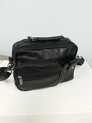 Roma Genuine Leather Organizer Bag Handbag Purse