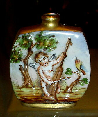 HTF Vintage ERNST RUDOLSTADT Germany Raised Nude Putti Perfume Scent Bottle
