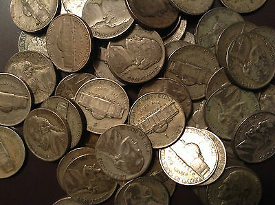 Super Sale Old Lot US Minted 4 Silver War Nickels 1942-1945 Use to Barter *