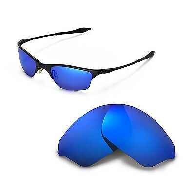 New WL Polarized Ice Blue Replacement Lenses For Oakley Half Wire XL Sunglasses