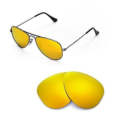 b017a0ebcd0 New WL Polarized 24K Gold Lenses For Ray-Ban Aviator RB3044 Small Metal 52mm