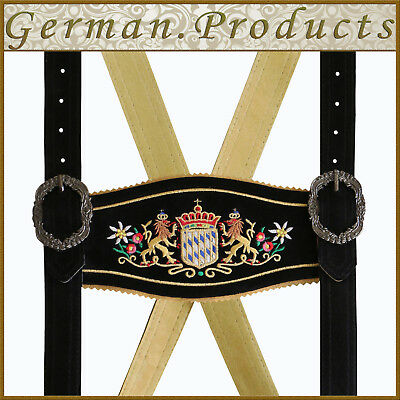 German Bavarian Oktoberfest Trachten Lederhosen Adjustable Special Suspenders