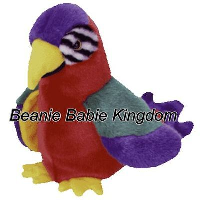 "Ty  Beanie Buddy * JABBER * The Multi Coloured Parrot  9"" Tall 09326"