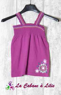 ♥ Tee Shirt Tunique Violet Or Blanc Bleu Bretelle 4 Ans ♥ G900