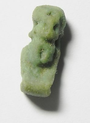 ZURQIEH - sc775-  ANCIENT EGYPT ,  FAIENCE PATAIKOS AMULET , 600 B.C