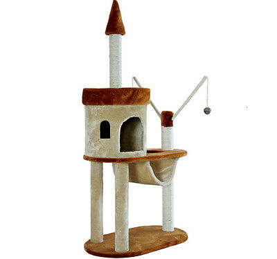 """New 55"""" Kitty Cat Scratcher Cat Tree Condo Post Tower Toy Pet Furniture"""