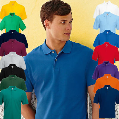 6 Pack Fruit of the loom 63402 POLO SHIRT MEN PLAIN WORKWEAR BLANK 15 COLOURS