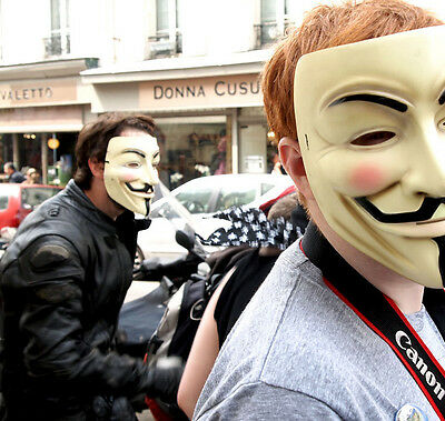 V for Vendetta Hallwoeen Mask Anonymous Guy Fawkes Fancy Dress Party Costume