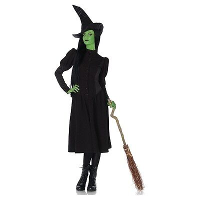 Elphaba Costume Adult Wicked Witch of the West Halloween Fancy Dress