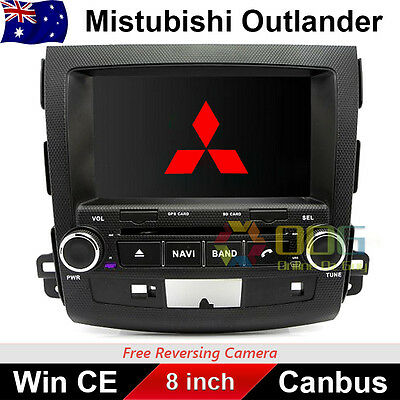 "8.0"" Car DVD GPS Stereo Nav For MITSUBISHI OUTLANDER 2007-2012 Model Dashboard"
