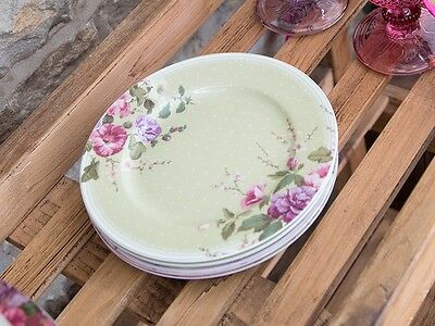 Katie Alice Highland Fling Green Spot Floral Shabby Chic Side Plate
