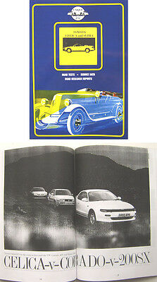 Toyota Celica & Supra Book of Road Tests and Articles Pub. by Unique