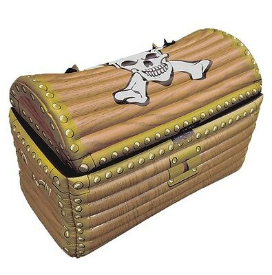 Inflatable Pirate Treasure Chest Drinks Cooler Theme Fancy Dress Party Box