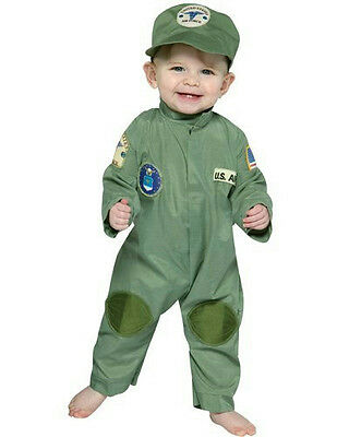 Air Force Military Pilot Infant Costume Jumpsuit 6-12 months