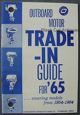 Original OMC Canada 1965 Outboard Motor Trade-In Guide For Models from 1954-1964