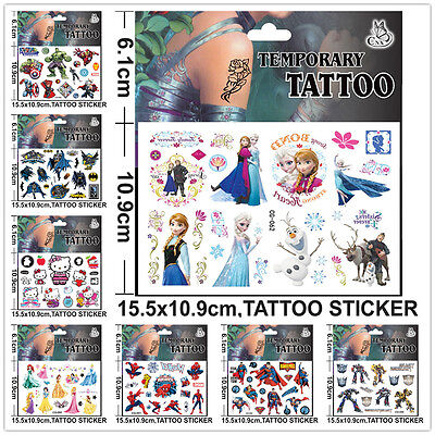 Children Disney Cartoon Character Temporary Tattoos Stickers Party Goody Bag