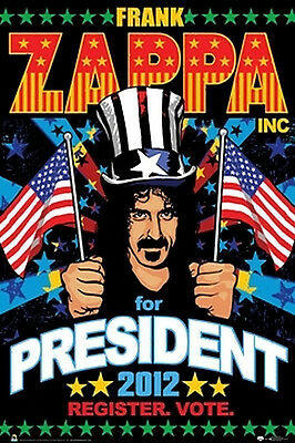 FRANK ZAPPA FOR PRESIDENT POSTER - 24x36 SHRINK WRAPPED - 2012 MUSIC 3133