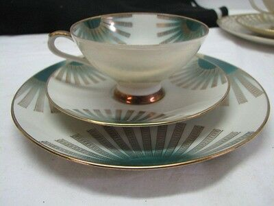 Bareuther Waldsassen Bavaria Germany  Tea Cup Saucer And Dessert Plate Set AB