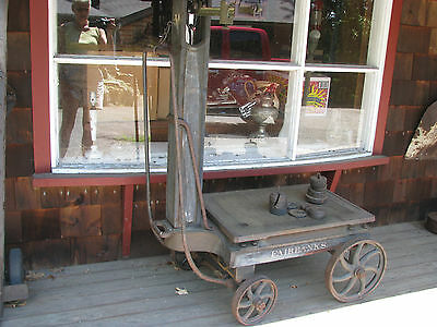 Antique FAIRBANKS  No. 10-1/2  Platform Scale With 12 Weights Made in USA